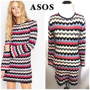 ASOS Chevron Stripe dress